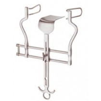 Balfour abdominal retractor with flat centre blade, Large pattern - max spread 180mm